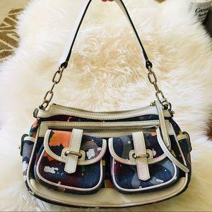 DOONEY BOURKE denim splash shoulder bag purse
